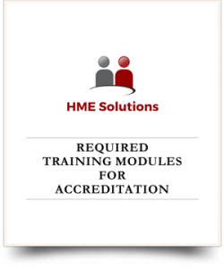 HME Accreditation Training Modules Cover